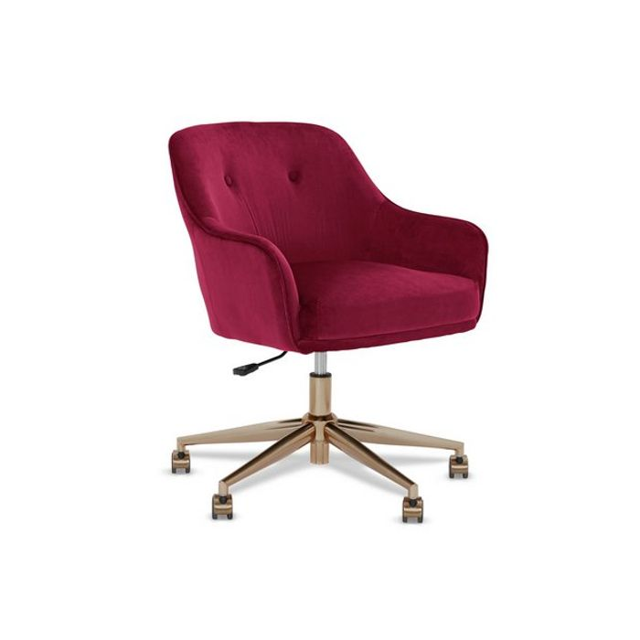 Habitat Marco Office Chair - Burgundy