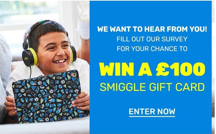 WIN 1 of 10 £100 Smiggle Gift Cards