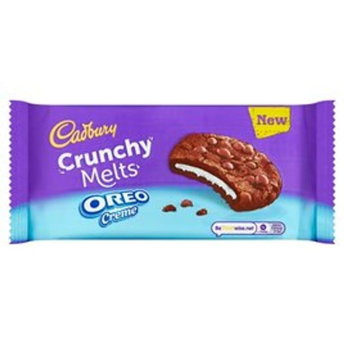 Cadbury Crunchy Melts Oreo Creme Cookies