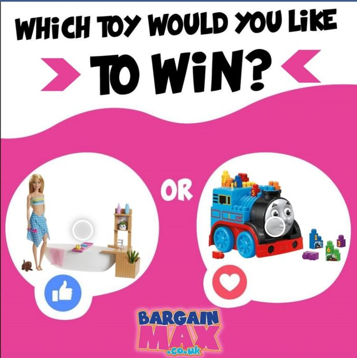 WIN Thomas or Barbie Toy