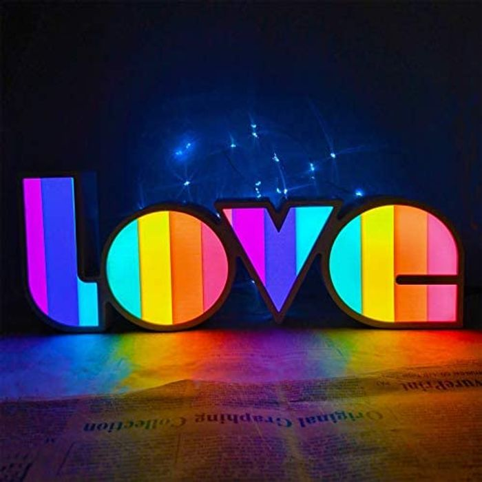 'Love' LED Neon Light - Battery or USB Powered (Other styles available)
