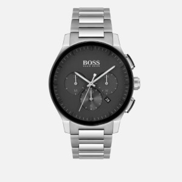 BOSS Hugo Boss Men's Peak Metal Strap Chrono Watch - Black/Silver