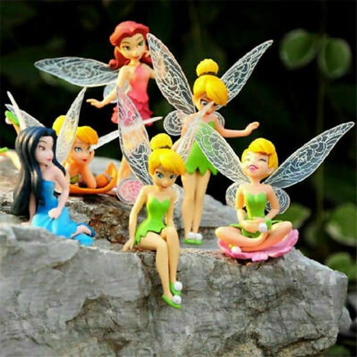 6 Pieces of Fairy Figures ( Perfect for a Secret Fairy Garden )