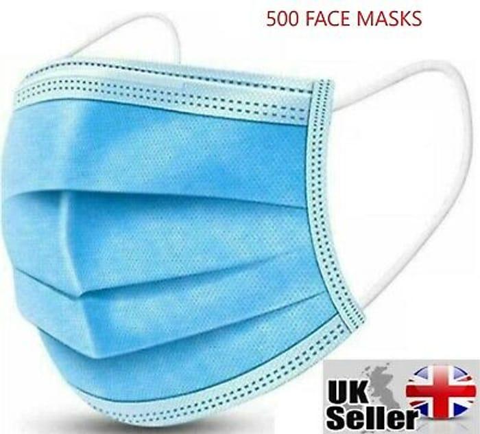500 Face Masks 2p Each