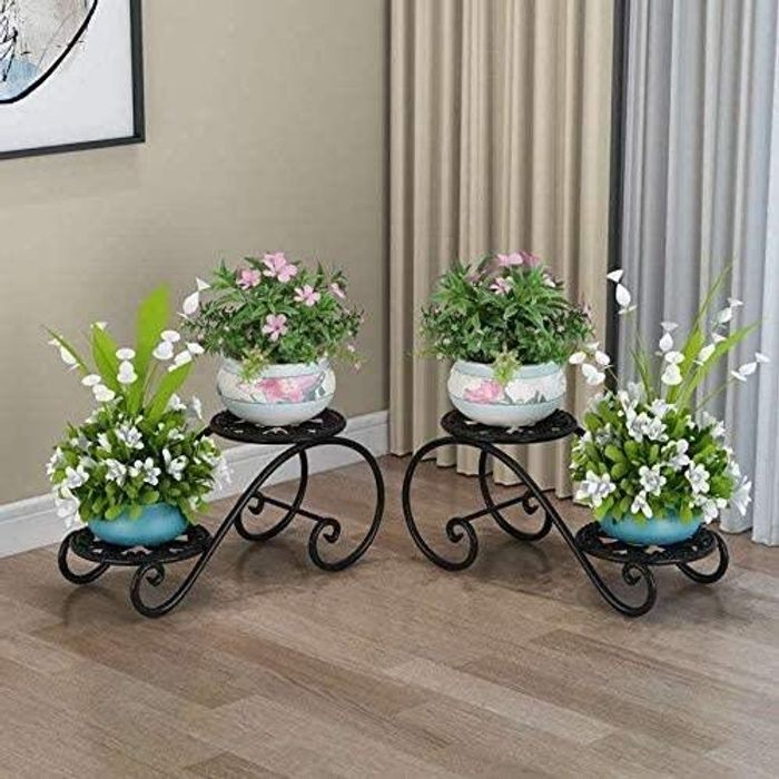 Pack of Two American Style Cast Iron Planters with Promo Tab