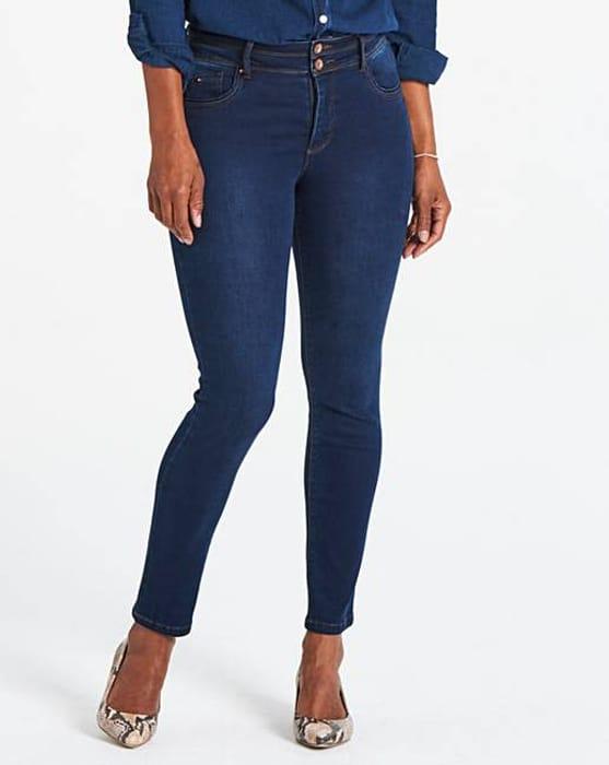 Cheap Premium Shape & Sculpt Black High Waisted Straight Jeans - Only £18.25!