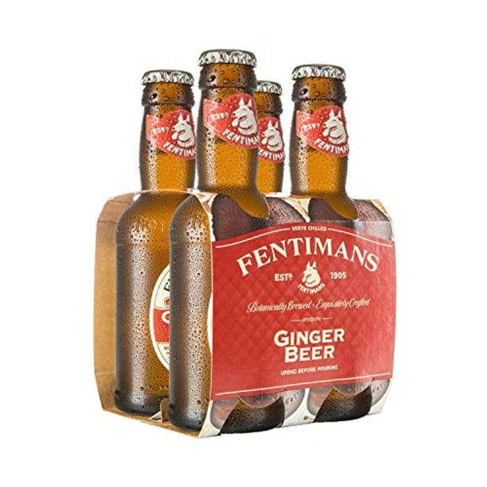 Fentimans Ginger Beer, 4 X 200ml Bottles