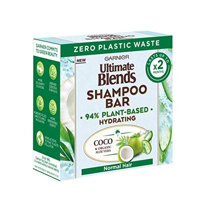 Garnier Ultimate Blends Coconut Hydrating Shampoo Bar with Aloe Vera, 60g