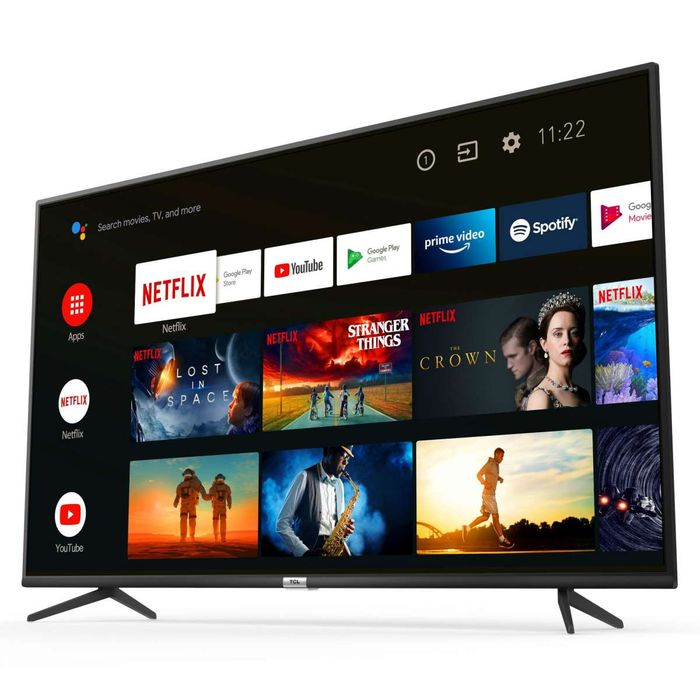 """*SAVE £80* TCL 65"""" Slim 4K HDR LED Smart Android TV with Freeview Play"""