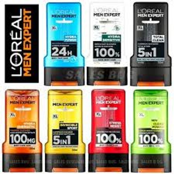 1/2 Price on Selected L'Oreal Mens Shower Gels 300ml