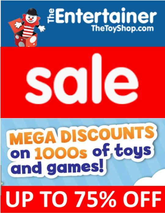 Special Offer! The Entertainer TOY SALE - up to 75% OFF