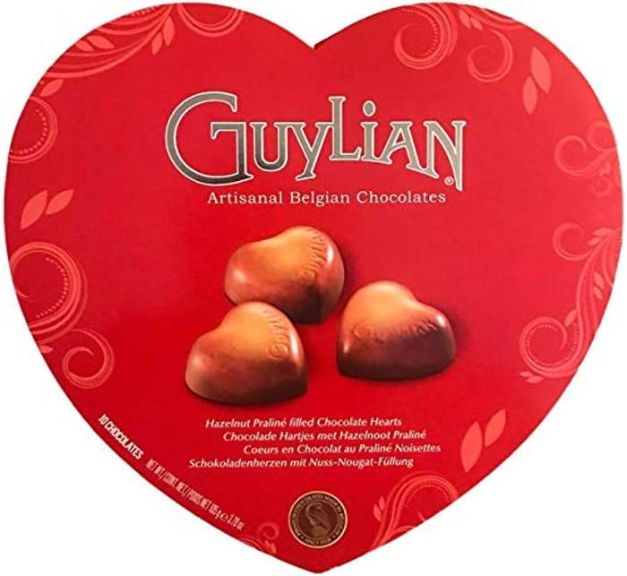 GUYLIAN I Love You Heart Chocolate Box 105G Hazelnut Praline