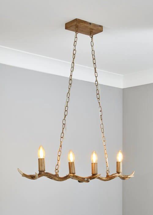 Better than 1\2 Price ! Antler Hanging Bar Light
