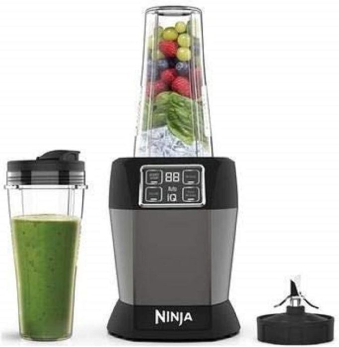 *SAVE over £20* Ninja Blender with Auto-iQ 1000 W, 2 X 700 Ml Cups, Black/Silver