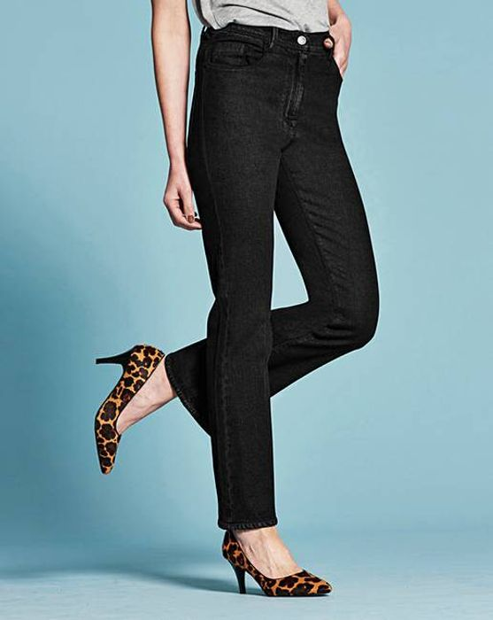 Bootcut Jeans Regular Length (Black - Size 12)