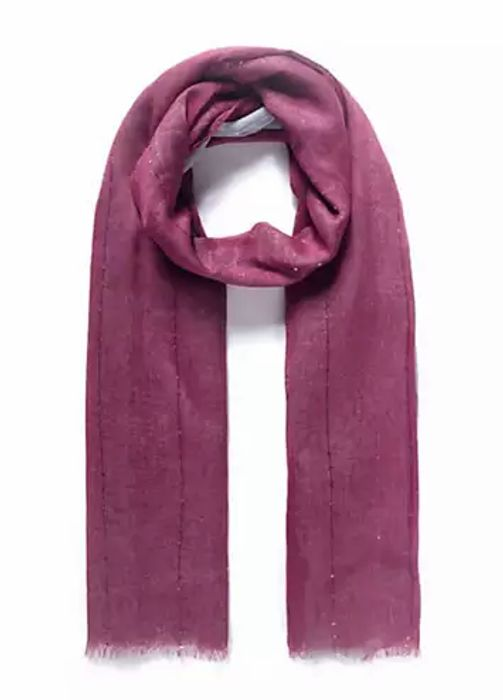 Mauve/Grey Ombre Effect Embellished Pashmina by Intrigue