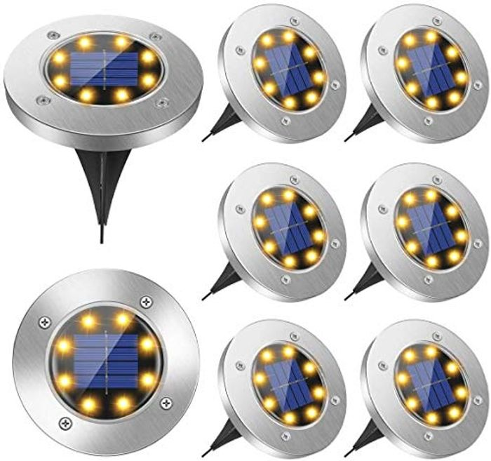 Prime Deal! Solar Garden Lights Waterproof- 8 Pack