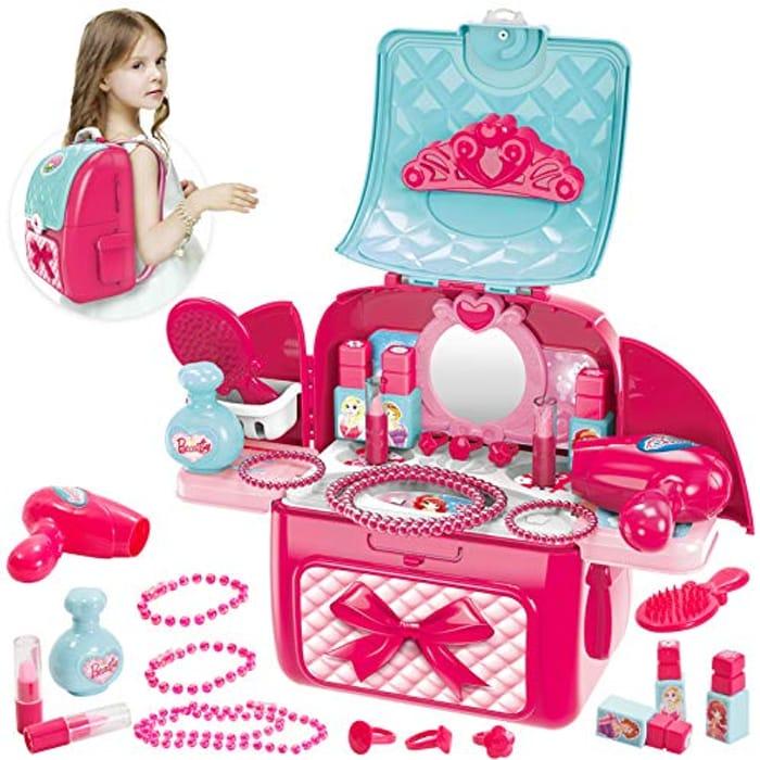 Buyger 2 in 1 Kids Make up Sets for Girls Dressing Table