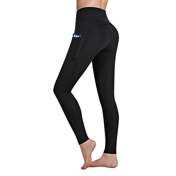 Occffy Yoga Pants with Pockets, Tummy Control, Workout Running Leggings