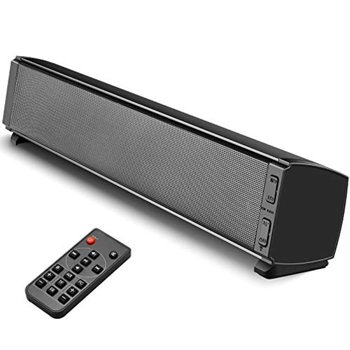 120dB Bluetooth 5.0 Soundbar with Built-in Subwoofer