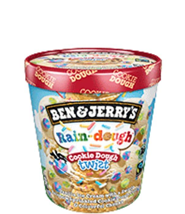 Ben & Jerry's Rain-Dough Cookie Dough Twist Ice Cream 465ml