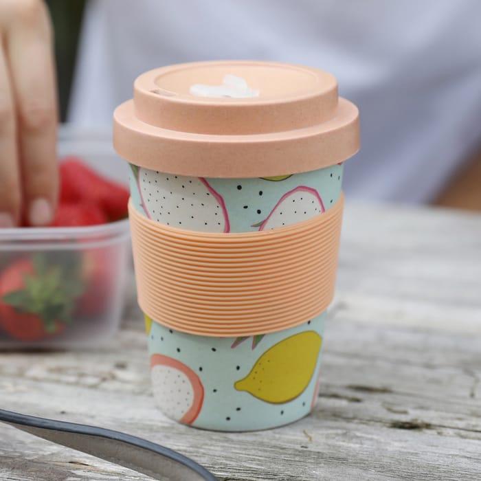 Fruit Print Bamboo Travel Mug