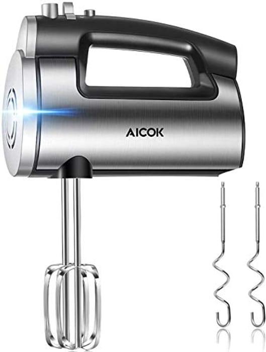 £10 Voucher- Aicok 6 Speed Powerful Handheld Mixer (Peak Power 300 W)