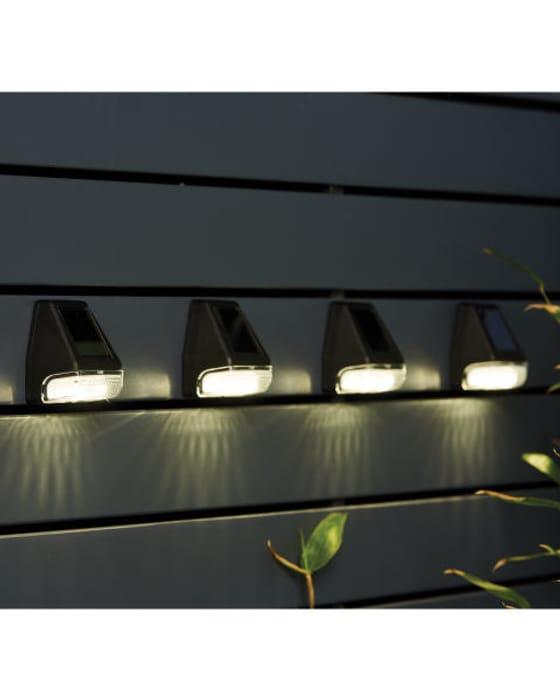 Solar Fence Light 4 Pack