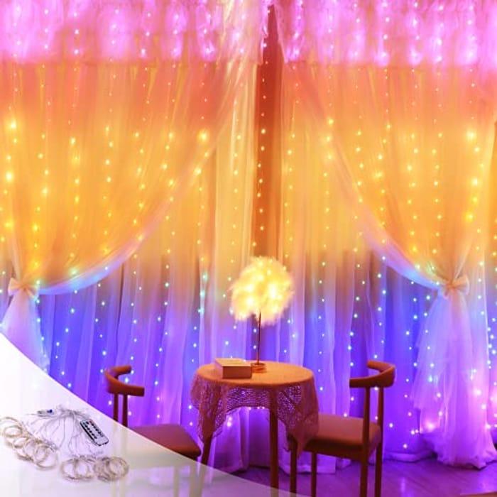 50% Voucher- Curtain String Lights, 280 LED 3 * 2.8 M