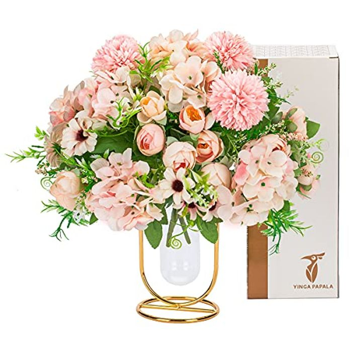 Artificial Flowers Mothers Day Birthday Gifts Fake Silk Flower Bouquet
