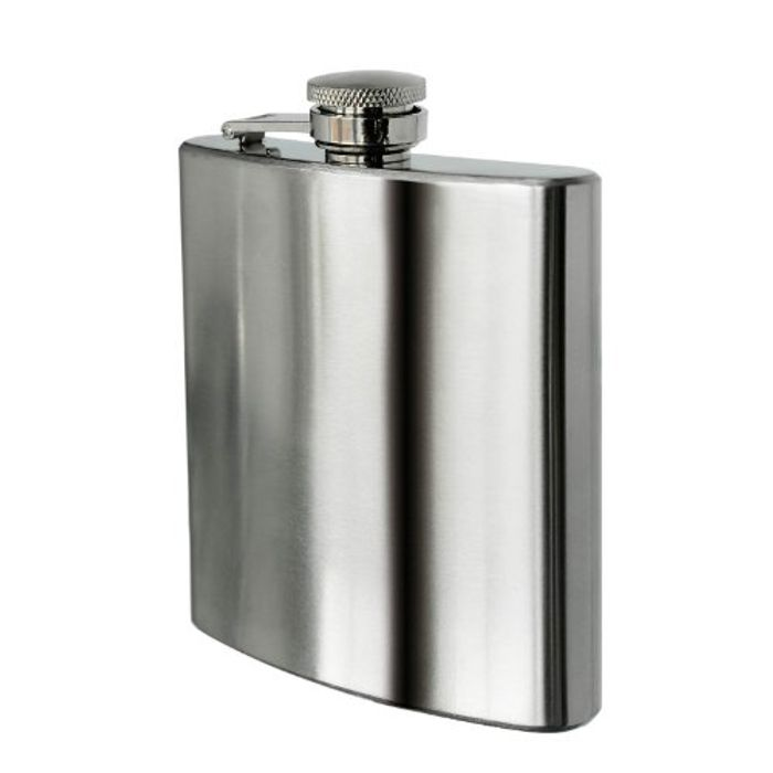 Stainless Steel Hip Flask, 8 Oz