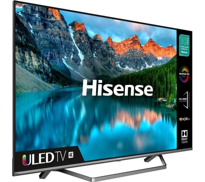 *SAVE over £129* Hisense 55 Inch QLED 4K Ultra HD Smart TV with Alexa 5yr G'tee