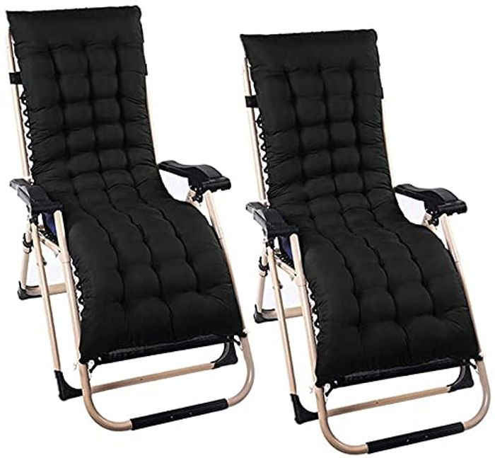 Cheap 2 Pcs Sun Lounger Cushions at Amazon