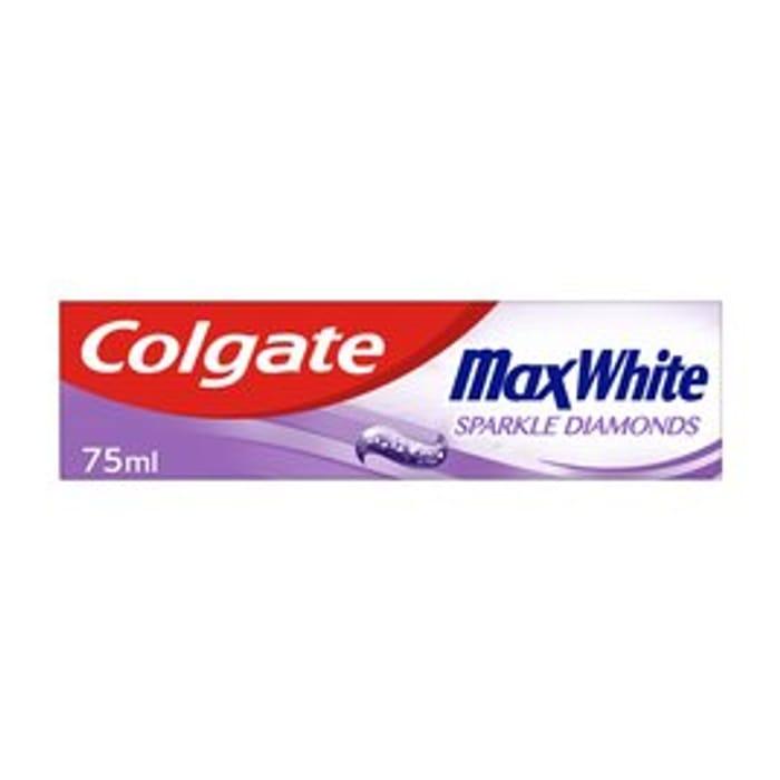 Cheap Colgate Max White Sparkle Diamonds Toothpaste - Save £1.5!