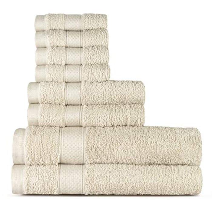 Cotton 8 Piece Towel Set (Cream)