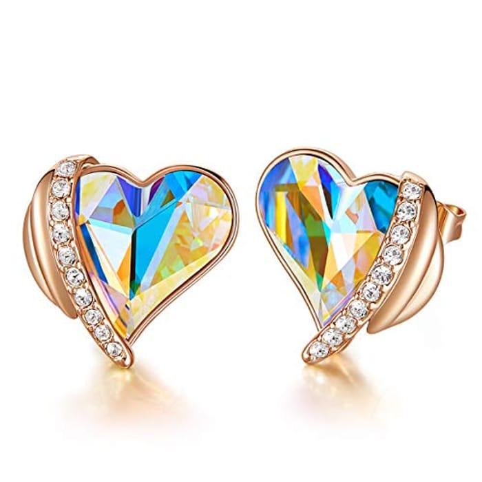 DEAL STACK - CDE Women Love Heart Stud Earrings + 20% Coupon