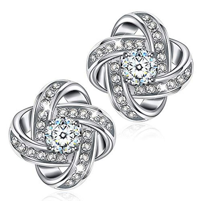 DEAL STACK - Alex Perry Silver Satellite Series Stud Earrings + 5% Coupon