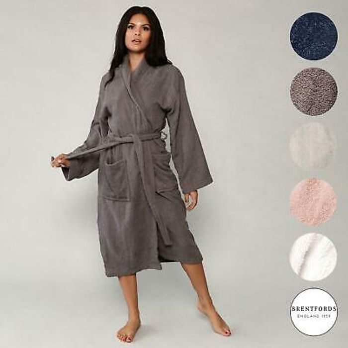 Luxury 100% Cotton Bath Robe / Dressing Gown 5 Colours - £12.99 Delivered