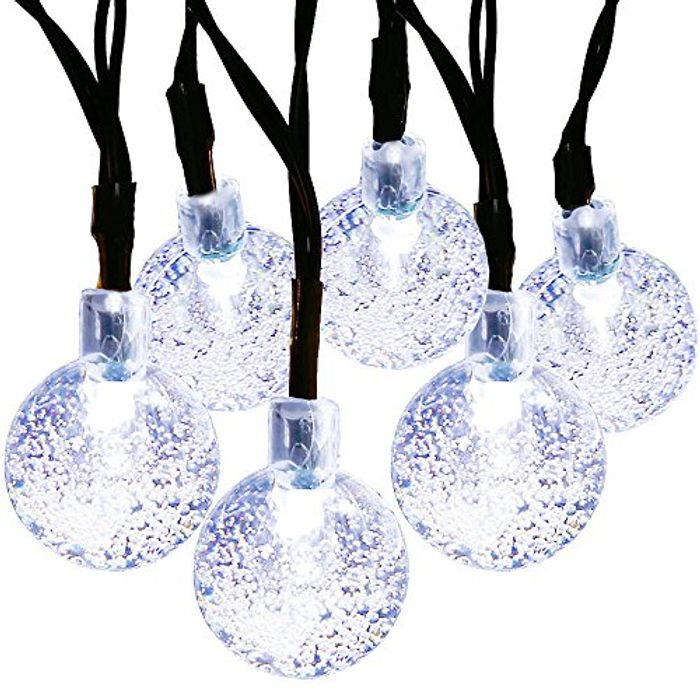 DEAL STACK - MagicLux Tech 30 LED Crystal Ball Solar Fairy Lights + 10% Coupon