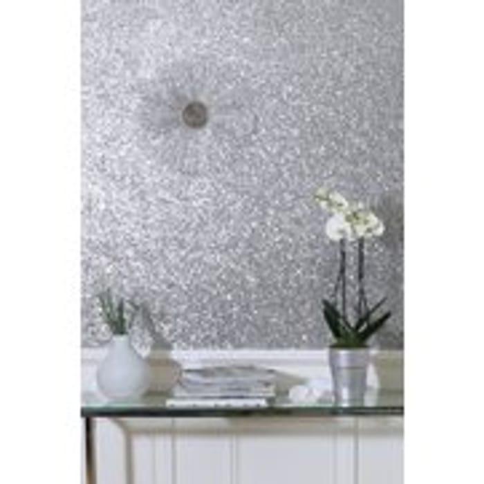 Silver Sparkle Wallpaper