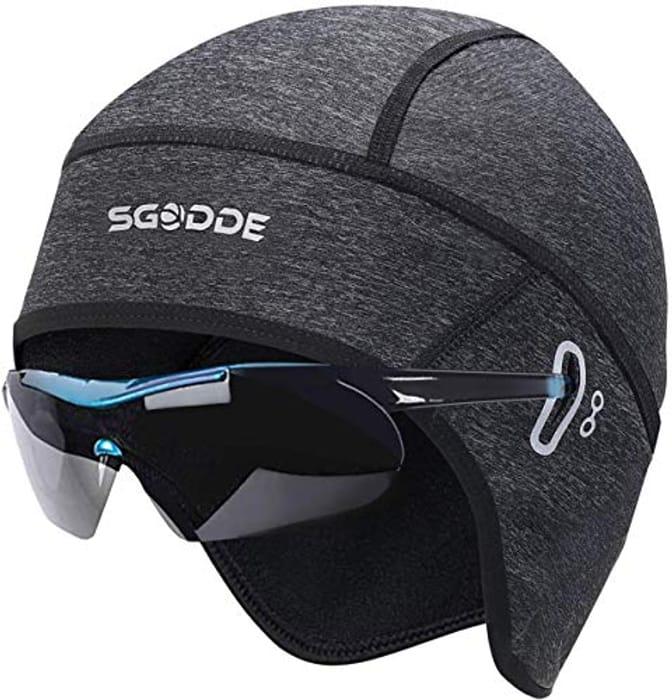DEAL STACK - SGODDE Cycle Thermal Skull Cap Helmet Liner Fits Glasses