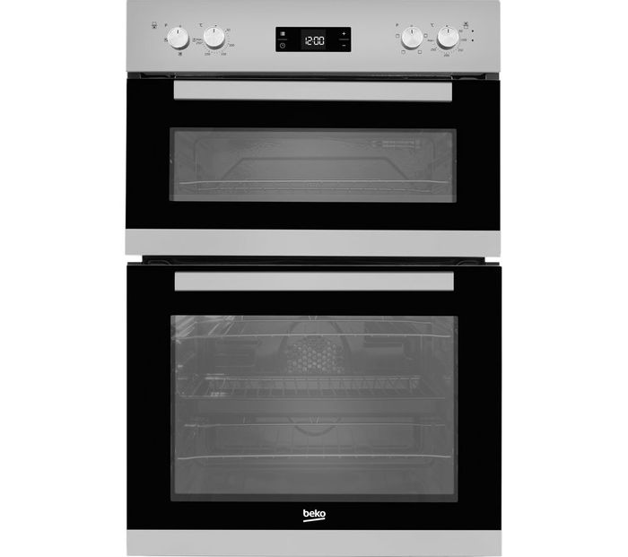 BEKO Pro BXDF22300S Electric Double Oven - Silver