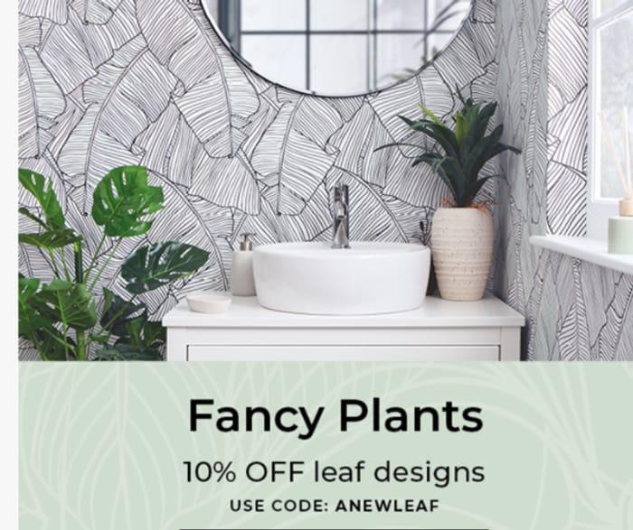 10% off Leaf Prints