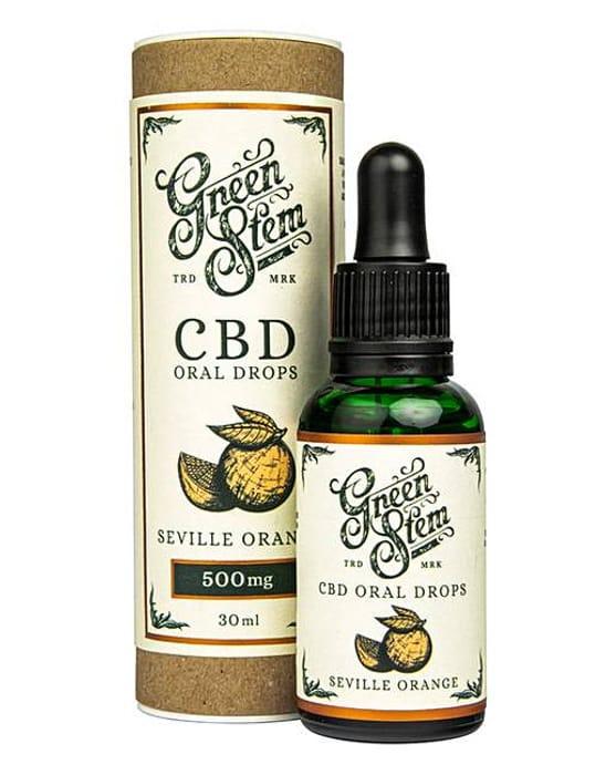 Green Stem Seville Orange Flavoured CBD Oil Oral Drops - 500mg
