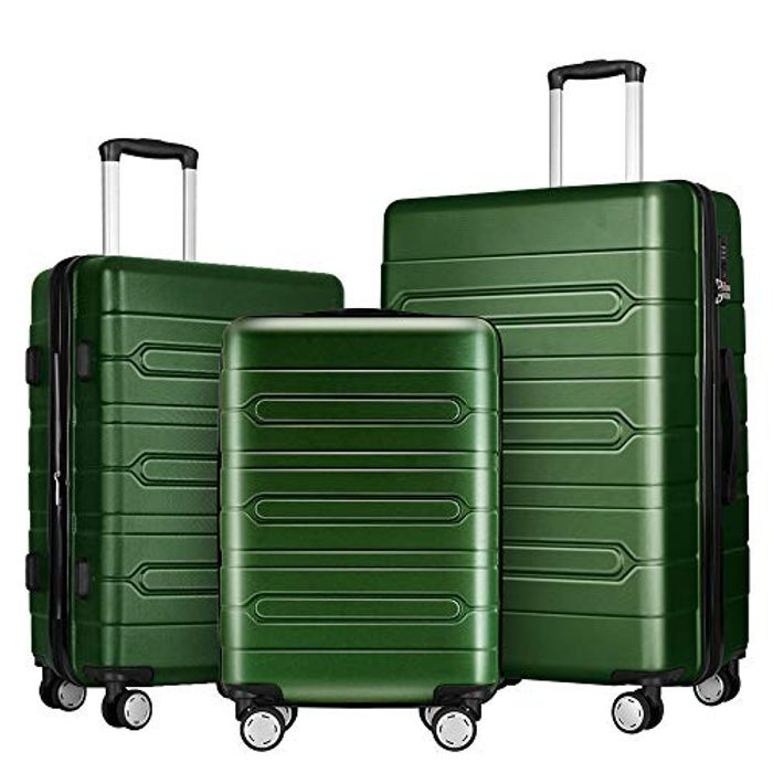 FOCHIER 3 PCS Luggage Sets Lightweight Hard Shell Suitcase - Only £59.99!