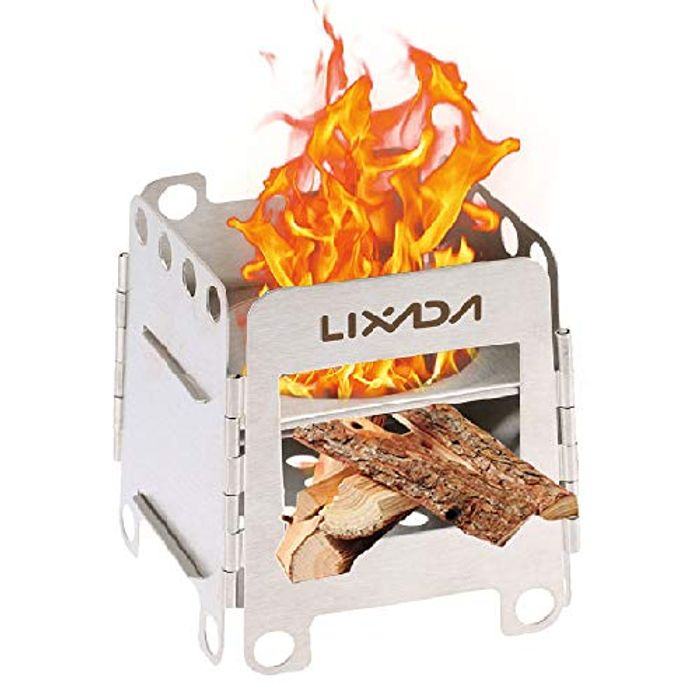 Lixada Camping Stove Stainless Steel Wood Burning Stove - Only £11.39!