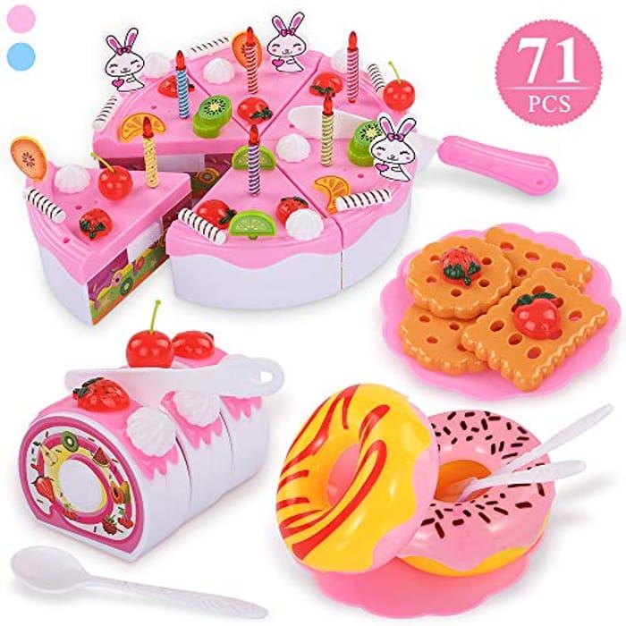 TEMI 71pcs Pretend Play Food for Kids