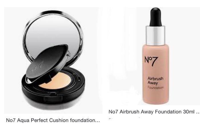 Only £5 No7 Aqua Perfect Cushion Foundation/Airbrush Away Foundation 30ml 3 For2
