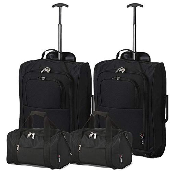 Set of 2 Trolleys & 2 Second Carry on Hand Luggage