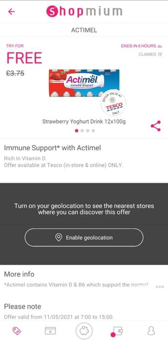 Free Actimel Immune Support